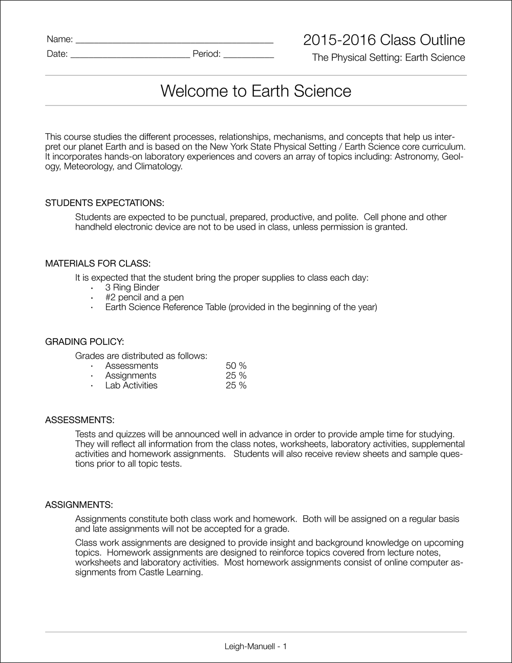 Mr LeighManuells Earth Science Class – Weathering Worksheet